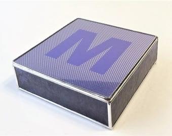 Stained Glass Keepsake Box Bat Mitzvah Invitation Jewelry Box 7x7x2 Handmade Custom Made-to-Order