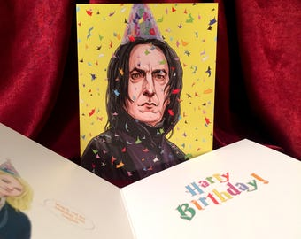 Severus Snape HARRY POTTER Birthday Card!