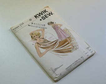 Vintage Kwik Sew  Pattern 214, Nightgown Pattern, Kerstin Martensson Designed,S - M - L - Xl, Unopen