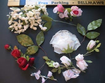 Vintage Large Lot - Millinery, Flowers, Corsage, Hat Accessary
