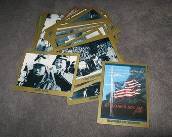 Pearl Harbor Trading Cards - 1991 Tuff Stuff Honolulu Hawaii USA Anniversary Set