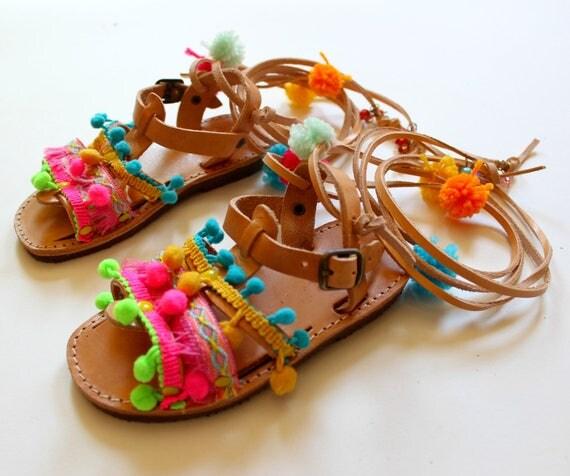 Kids boho sandals/Childrens greek sandals! Leather sandals, for kids and babies,baby sandals Toddler gladiators