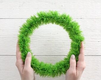 Tinsel Wreath Form - 8.5 Inch Green Wreath Base