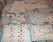 Vintage Lace Collection Centerpieces Lengths of Lace Hot Pads Runners Doilies Tablecloth over 50 Items