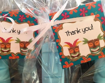 Tiki Beach Soap Favors: Baby Sprinkle Favors, Baby Shower Favors, Birthday favors, Wedding Favors, Beach Favors, Destination Wedding Favors