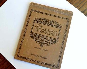 Vintage Typewriting Manual Book 1940s