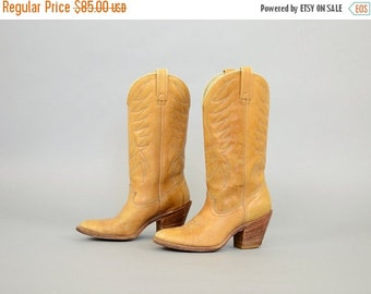 ANNIVERSARY SALE 70's DINGO Leather Cowboy Boots