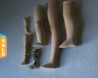 Closeout - Porcelain Doll Leg Singles for Altered Art Doll Making and Doll Repair