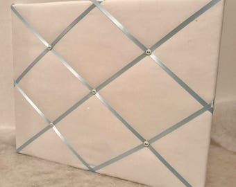 24x36 White and light blue ribbon Memory Board French Memo Board or YOU PICK different colors