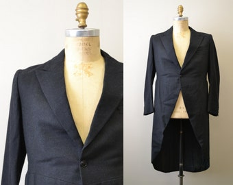 1960s Black Wool Tail Coat