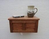 4 Custom Wood Tissue Box Holders, Wall Mounted - Arts & Crafts Dark Oak