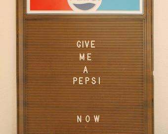 Vintage Pepsi letter board sign