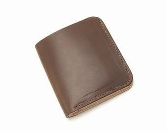 Modern Wallet - Brown Chromexcel horsehide - mens leather wallet - leather wallet for men - mens wallet - handmade leather wallet