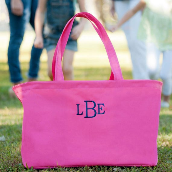 Large Tote Bag with Monogram