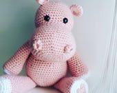Miss Hippo Stuffed Animal- ready to ship