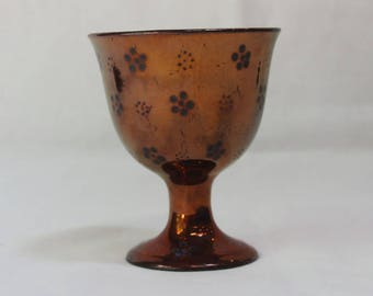 Antique English Victorian Copper Luster Goblet Cup 19th C.