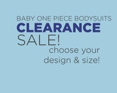 baby clothing CLEARANCE SALE! - Choose Your Design American Apparel brand one piece bodysuit romper crawler - various designs, sizes, colors
