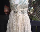 "20%OFF RESERVED  bohemian gothic lagenlook gypsy boho hippy wedding vest..smaller to 38"" bust"