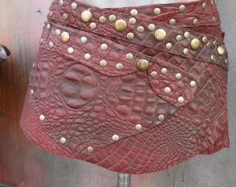 20%OFF leather belt, ladies belt, belt, studded belt, croc print, punk, belt, leather, gothic, festival, rock chic, western, 28, 30, 32, 34