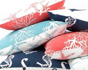 Aqua Blue Throw Decorative Pillow Cover By Chloeandolivedotcom
