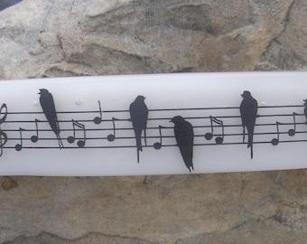 Songbird Music Fused Glass Barrette French Barrette Music Jewelry
