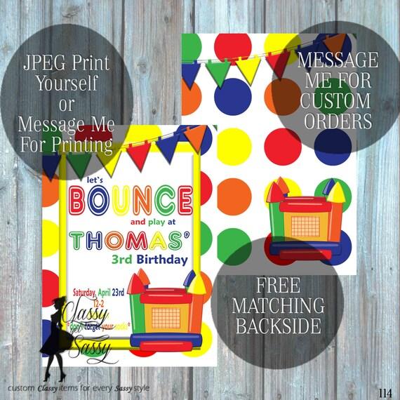 Bounce House Birthday Party Inviation, Bouncy House Party Invitation, Inflatable Party Inviation, Kids Birthday invite 114