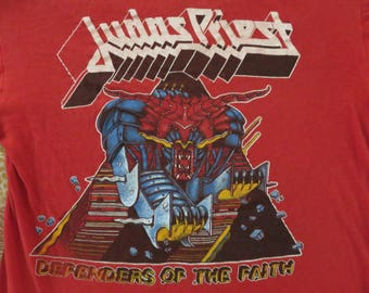 Vintage JUDAS PRIEST 1984 Tour T SHIRT concert tee
