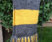 Vintage Hufflepuff Wizarding Scarf for Abby Stpierre
