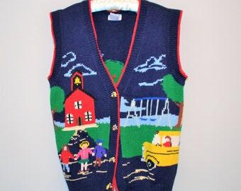 Vintage School Days Sweater Vest