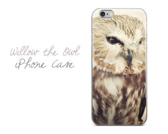 Owl iPhone Case, Owl iPhone 7 Plus Case, Woodland Owl iPhone 6 Cover, Bird iPhone Cover, Nature iPhone Case, Wildlife iPhone Cover, Cute Owl