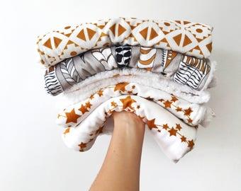 Baby lovey 25x17, LaCloud blanket, sherpa lovey, baby shower gift, security blanket, faux fur lovey, minky baby blanket