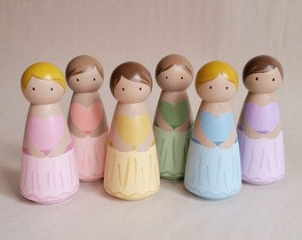 Ballerina Dancer Peg Dolls