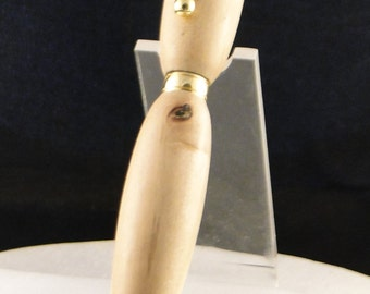 Handcrafted wooden twist type pen, Hawaiian Guava and Gold tone fittings