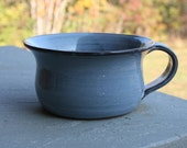 Pottery Soup Mug Light Blue Glaze NC Pottery