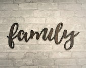Family - 3D Wooden Wall Words - Made to Order Home Decor