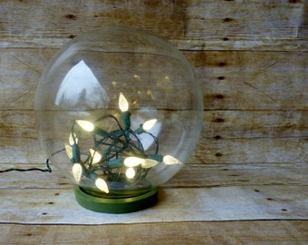 Vintage Glass Display Dome with Original Airtight Base - Glass Globe