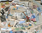 Little papers and cuts of vintage pieces - Ephemera Paper Pack -  Junk - Inspiration Pack for Scrapbooking Collage Mixed Media Journal