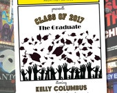 PLAYBILL style graduation invitation theater Broadway NY DIY version
