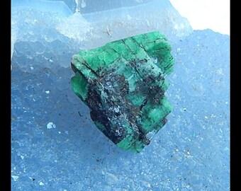 Drusy Emerald Green Gemstone Cabochon,23x19x10mm,7.30g