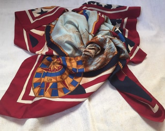 Large Vintage Scarf Nautical Images