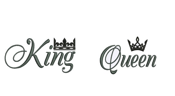 King And Queen Tattoo Font: King And Queen Mr And Mrs His Her Towels Gifts Great For