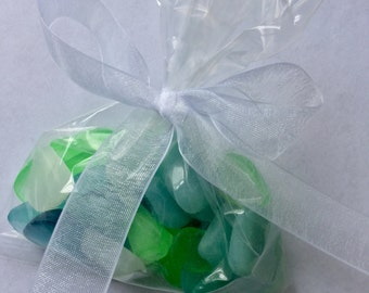 Three Sea Glass Artisan Soap Favors Realistic Original Handmade Soap Pieces, Weddings, Party Favors, Hostess Gift, CUSTOM ORDERS WELCOME