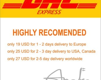 DHL EXPRESS SHIPPING highly recommended for fast delivery to United States, Canada, Australia, Europe and worldwide