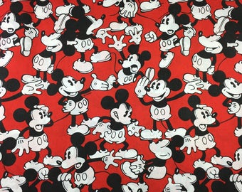 Vintage 80s Bed Sheet Mickey Mouse Twin Fitted Sheet