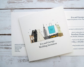 New York Wedding/Evening Invitations