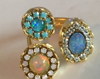 HOLIDAY SALE Multi opal ring