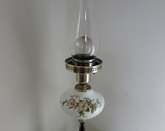 Vintage Porcelain Oil Lantern Electric Lamp
