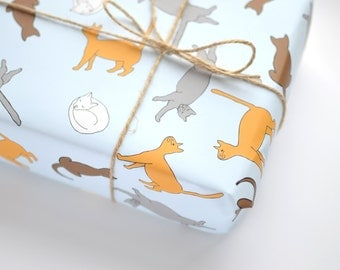 Cat Gift Wrap - Wrapping Paper - Gift Wrap Sheets