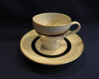 Shenango China Set of 4  Demitasse Cups and Saucers