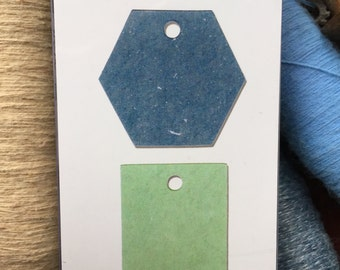Tags hexagon and Scallop Die Cut for Big Shot Big Kick Sizzix Vagabond Big Shot Pro Die Cut  New In Package Tag Hexagon SCALLOP TAG